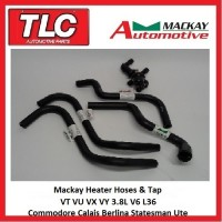 Mackay Heater Hose & Tap Kit VT VU VX VY WH WK V6 3.8L Commodore etc.