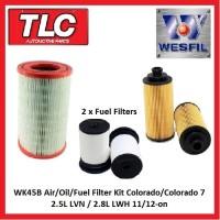 WK45B Air Oil Fuel Filter Kit RG Colorado 7 Diesel 2.5L LVN 2.8L LWH 11/12-on