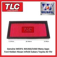 Air Filter Wesfil Air Filter WA360 A360 Ford Holden Nissan Infiniti Subaru Toyota See Desc.