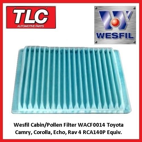 Wesfil Cabin/Pollen Filter WACF0014 Toyota Camry, Corolla, Echo, Rav 4 RCA140P