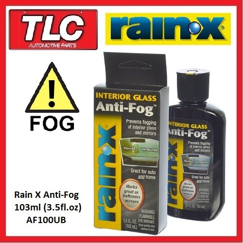 rain x rain x rainx interior glass anti fog anti fog 103ml. Black Bedroom Furniture Sets. Home Design Ideas