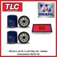 WK10+1 Air & 2 x Oil Filter Holden Commodore VR/VS V6 3.8L