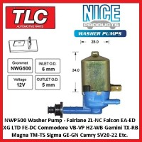 Washer Jet Pump Motor NWP500 Commodore VB VC VG VH VK VL VN VP VQ