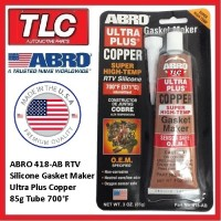 ABRO Copper RTV Silicone Gasket Maker 418AB 700F  High Temp Sensor Safe 85g