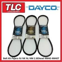 Fan Belt Kit (3 Belts) NJ NK NL NM Pajero 2.8 Diesel 4M40 4M40T 11/93 - on