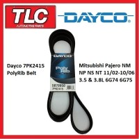 Dayco 7PK2415 Serpentine Drive Alt Belt Pajero NM NP NS NT 6G74 6G75 11/02-10/06