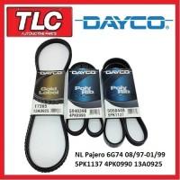 Dayco Fan Belt Kit (3 Belts) NL Pajero 3.5L 6G74 08/97-01/99
