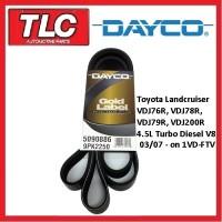 Dayco Fan Belt Landcruiser VDJ76R VDJ78R VDJ79R VDJ200R 1VD-FTV 4.5 Diesel V8