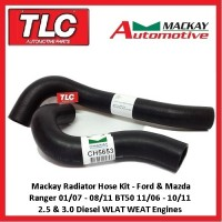 Mackay Ranger BT50 Top Bottom Radiator Hose Kit PJ PK B2500 B3000 07 08 09 10 11