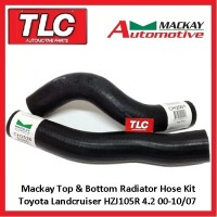 Mackay Top & Bottom Radiator Hose Landcruiser HZJ105R 4.2 Diesel 98 - 10/07
