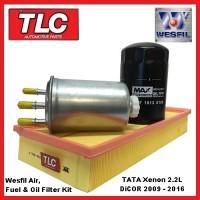Wesfil Air Oil Fuel Filter Kit TATA Xenon 2.2 DiCOR Diesel 2009 - 2016