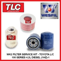 WK2 Air Oil Fuel Filter Kit Toyota Landcruiser 100 Series 4.2L Diesel (1HZ)