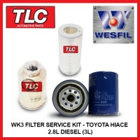 WK3 Air Oil Fuel Filter Kit - Toyota Hiace 2.8L Diesel (3L) LH103 113 124 89-00