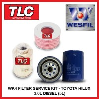 WK4 Air Oil Fuel Filter Kit Toyota Hilux LN147 167 172 3.0L Diesel 5L 97-00
