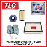 WK13 Air Oil Fuel Filter Kit - Holden Commodore VZ V6 3.6L Alloytec