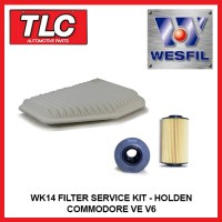 WK14 Air & Oil Filter Kit Holden Commodore VE V6 3.6L Alloytec