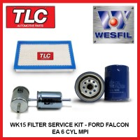 WK15 Air Oil Fuel Filter Kit - Ford Falcon EA 6 CYL MPI