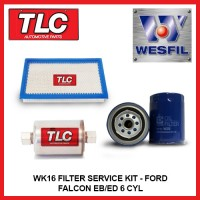 WK16 Air Oil Fuel Filter Kit - Ford Falcon EB EBII ED 6 CYL 4.0L