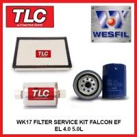 WK17 Air Oil Fuel Filter Kit - Falcon EF EL 4.0 6cyl 5.0L V8
