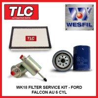 WK18 Air Oil Fuel Filter Kit - Ford Falcon AU AUII AUIII 6 CYL 4.0L Without IRS