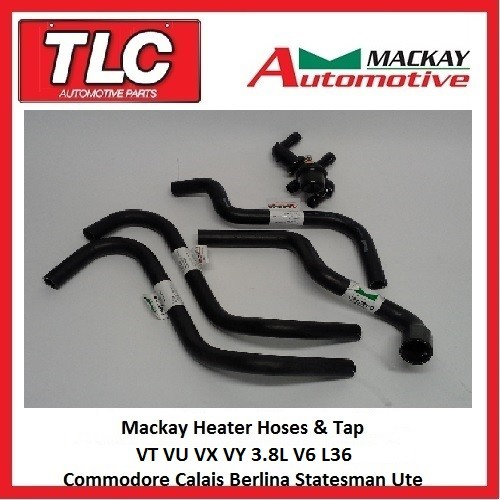 Mackay Heater Hose & Tap Kit VT VU VX VY WH WK V6 3.8L Commodore etc.