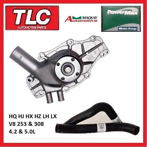 Water Pump & Radiator Hose Kit HQ HJ HX HZ LH LX V8 253/308 CH818 CH944 W808