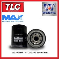 Oil Filter WZ372NM Z372 Ryco Equiv. Mitsubishi with Drain Bolt/Plug