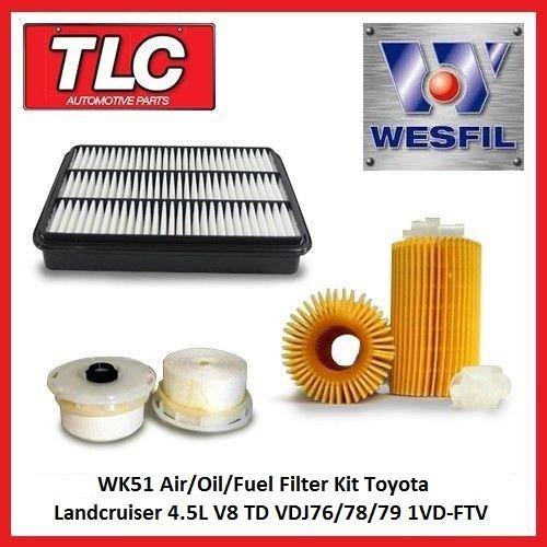 Wesfil Service Kit For TOYOTA LANDCRUISER 4.5L V8 TD VDJ76//78//79 SERIES