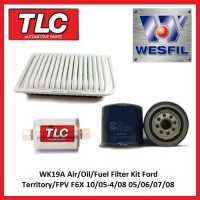 WK19A Air Oil Fuel Filter Kit Ford Territory FPV F6X 10/05-4/08 05 06 07 08