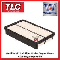 Wesfil Air Filter WA922 A1268 Holden Toyota Mazda Nova Corolla Sprinter 1.6 1.8