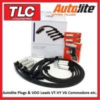 VDO Leads & 6 Autolite Plugs Holden Commodore VT-VY V6 Non S/C Statesman Calais