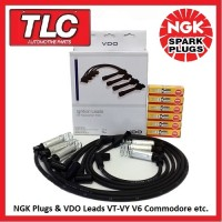 VDO Leads & 6 NGK Plugs Holden Commodore VT-VY V6 Non S/C Statesman Calais