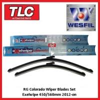 RG Colorado Wiper Blades Beam Blade Set Exelwipe 450/560mm 2012-on