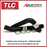 Radiator Top Bottom Hose Kit V8 HQ HJ HX HZ LH LX Red 253 & 308 CH818 CH944