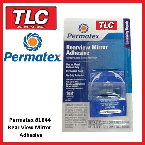 permatex 81844 rear view mirror adhesive glue free postage. Black Bedroom Furniture Sets. Home Design Ideas