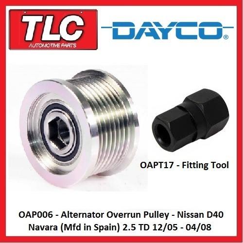 Oap006 Alternator Overrun Pulley Navara D40 Spain