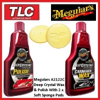 Meguiars Combo Pack Deep Crystal Wax (A2216), Polish (A2116) & Applicators