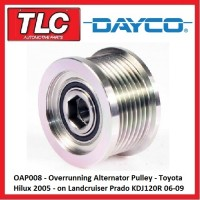 OAP008 Alternator Overrun Pulley Toyota Hilux 2005 - on Prado KDJ120R 2006-2009