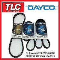 Dayco Fan Belt Kit (3 Belts) NL Pajero 3.5L 6G74 02/99 - 06/2000