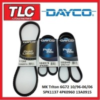 Dayco Fan Belt Kit (3 Belts) MK Triton 3.0L 6G72 10/96 - 06/06
