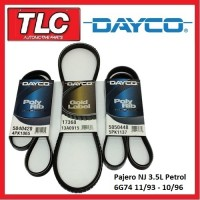 Dayco Fan Belt Kit (3 Belts) NJ Pajero 3.5L 6G74 11/93 - 10/96