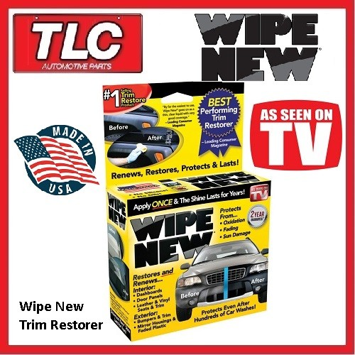 wipe new trim restorer kit wipe 1 restore faded plastics to new. Black Bedroom Furniture Sets. Home Design Ideas