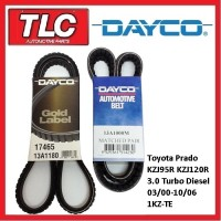 Dayco Fan Belt Kit (3 Belts) Prado KZJ95R KZJ120R 03/00-10/06 1KZ-TE 3.0 Diesel