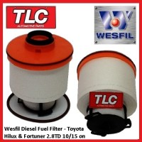 Wesfil Fuel Filter Toyota Hilux Fortuner 2.8 TD GUN123R 125R 126R 156R 10/15 on