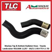 Mackay Top & Bottom Radiator Hose Landcruiser VDJ200R 4.5 V8 Diesel 11/07  09/15