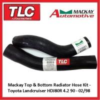 Mackay Top & Bottom Radiator Hose Landcruiser HDJ80R 4.2 TD 5/90-2/98 1HDT 1HDFT