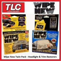 Wipe New Headlight & Trim Restoration Kit Twin Pack (Wipe 1 x 1 Wipe 2 x 1)