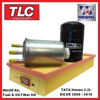 Wesfil Air Oil Fuel Filter Kit TATA Xenon 2.2 DiCOR Diesel 2009 - 2016