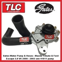 Water Pump, Housing & Hoses Mazda Tribute MPV & Ford Escape 3.0 V6 00 01 02 03