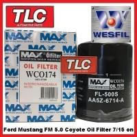 Wesfil Oil Filter WCO174 Ford Mustang FM 5.0 V8 7/15 on FL500S Z928